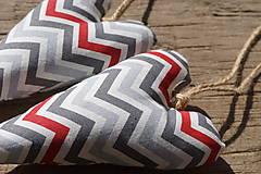 Dekorácie - ♥♥  červeno šedé - 7993420_
