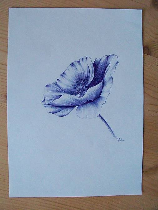Kresba Vlci Mak Akrymka Sashe Sk Handmade Kresby