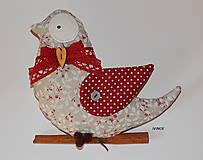 Dekorácie - Vtáčik na zavesenie - 7994078_