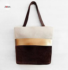 Kabelky - ALEX Gold Stripe kabelka na plece - 7995661_