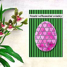 Papiernictvo - Geometrické veľkonočné vajíčko - fľaky a srdiečka - 7996416_