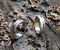 Prstene - Rukou prírody písané obrúčky dvojfarebné - 7998947_