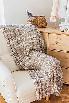 Úžitkový textil - Ručne pletená deka