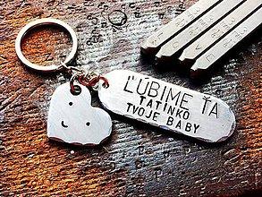 Kľúčenky - ĽÚBIME ŤA TATINKO , TVOJE BABY - 7997078_