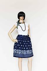 Sukne - _Barbora... zavinovacia... na ľudovú nôtu... v modrej - 7999456_