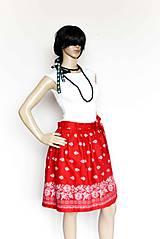 Sukne - _Barbora... zavinovacia... na ľudovú nôtu... v červenej - 7999544_
