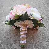 Kytice pre nevestu - Svadobná kytica z pivoniek a ružičiek - 7999975_