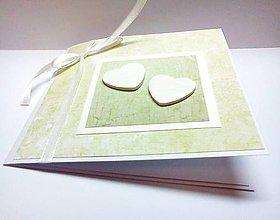Papiernictvo - Pohľadnica ... svadba v zelenom - 7999338_