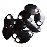 Komponenty - Šupiny velké černé 10 ks - 7997544_