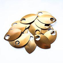Komponenty - Šupiny velké bronzové 10 ks - 7997509_