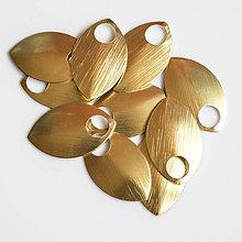 Komponenty - Šupiny velké zlaté 10 ks - 7997545_