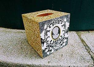 """Krabičky - Box na vreckovky """"Pearls Nr.5"""" - 7999845_"""