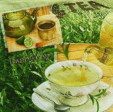 Papier - S989 - Servítky - čaj, tea, tea time, zelený čaj, šálka, čajovník - 7997682_