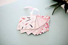Papiernictvo - Visačky / menovky na darčeky *ružové - 7997616_