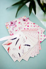 Papiernictvo - Visačky / menovky na darčeky *ružové - 7997617_