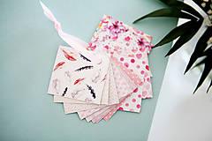 Papiernictvo - Visačky / menovky na darčeky *ružové - 7997618_