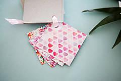Papiernictvo - Visačky / menovky na darčeky *ružové - 7997620_