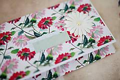 Papiernictvo - Obálka na peniaze - s kvetmi - 7997643_