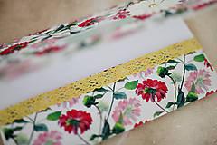 Papiernictvo - Obálka na peniaze - s kvetmi - 7997644_