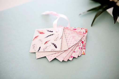 Visačky / menovky na darčeky *ružové