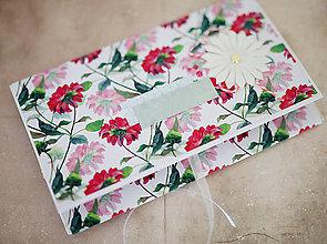 Papiernictvo - Obálka na peniaze - s kvetmi - 7997642_