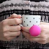 Prstene - Mushroom button ring - oversize prsteň Cyklamén - 8000339_