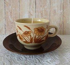 Svietidlá a sviečky - teacup candle RUDBEKIA - 7999942_