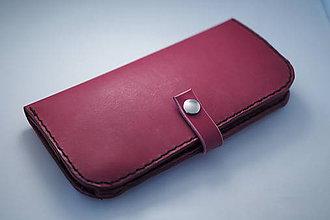 Peňaženky - Dámská kožená peňaženka - bordo - 7998214_
