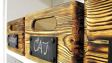 Krabičky - industriálna debnička s tabuľkou - 7997673_