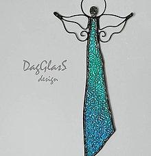 Dekorácie - Anjelská dekorácia na stenu...v tyrkysovom - 7998434_