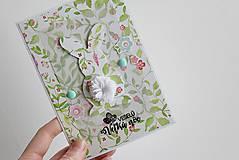 Papiernictvo - Veľkonočná pohľadnica - zajačik - 7997730_
