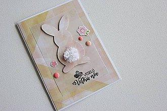Papiernictvo - Veľkonočná pohľadnica - zajačik II - 7997746_