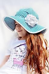 Čiapky - Letný klobúk cik-cak - 7997484_