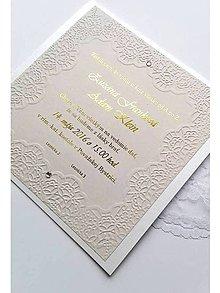 Papiernictvo - svadobné oznámenie 018 capucino - 7997760_