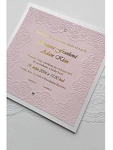Papiernictvo - svadobné oznámenie 018 - pink - 7997774_