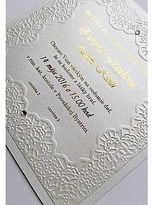 Papiernictvo - svadobné oznámenie 018 - cream - 7997784_