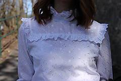Košele - Biela romantická blúzka - 8000290_