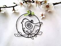 Tabuľky - vtáčik na jabloni - 7997163_