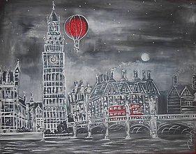 Obrazy - Vyhliadkový let nočným Londýnom - 7997195_