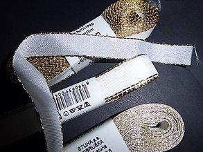 Galantéria - Taftová stuha so zlatým okrajom - 7999548_