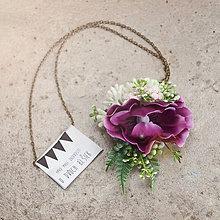 Náhrdelníky - Kvietkový náhrdelník č.2 - 7999037_
