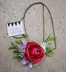 Náhrdelníky - Kvietkový náhrdelník č.2 - 7999582_