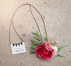 Náhrdelníky - Kvietkový náhrdelník č.3 - 7999598_