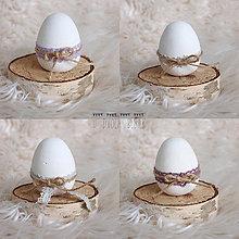 Dekorácie - Betónové vajíčka s čipkou - 7999931_