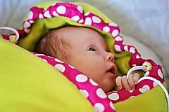 Flísový zavinovací fusak pre najmenšie bábätká