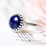 Classic Natural Lapis Lazuli Ring Silver Ag 925 / Strieborný prsteň s lazuritom /0594