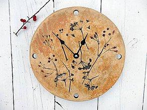 Hodiny - Keramické hodiny s motívom trávy - 8000879_