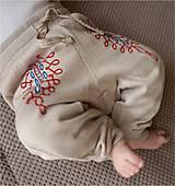 """Detské oblečenie - """"folklórne nohavice I"""" - maľba na teplákoch - 8000927_"""