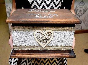 Krabičky - Svadobná pokladnička