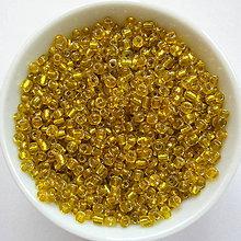 Korálky - Rokajl s prieť-2mm-žltá-20g - 8003300_